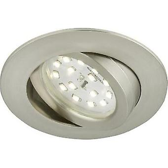 LED flush mount light 5 W Warm white Briloner 7209-012 Nickel (matt)