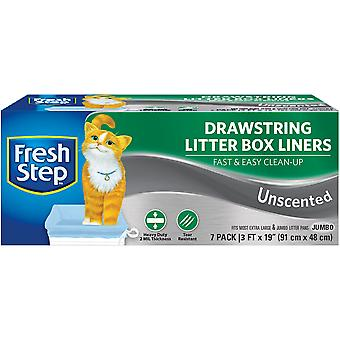 Fresh Step Drawstring Litter Box Liners 7/Pkg-Jumbo Unscented FFP8424S