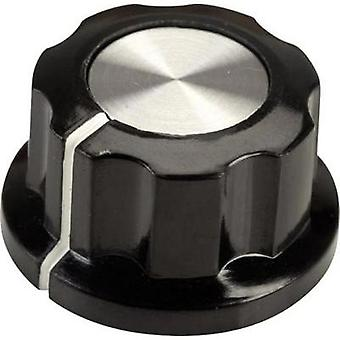 Control knob Black, White (Ø x H) 22.9 mm x 12.7 mm SCI RN-99E(6.4mm) 1 pc(s)