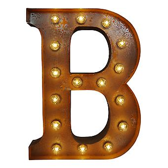 Large Vintage Letter Lights - B