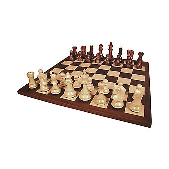 Rosewood Old Russian Chess Set With Dark Rosewood Board