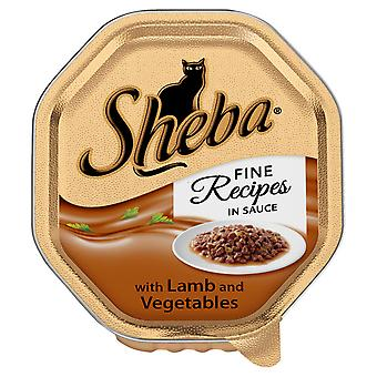 Sheba Tray Fine Recipes With Lamb & Vegetables In Sauce 85g (Pack of 22)