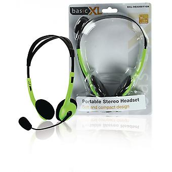basicXL Portable stereo-headset Green