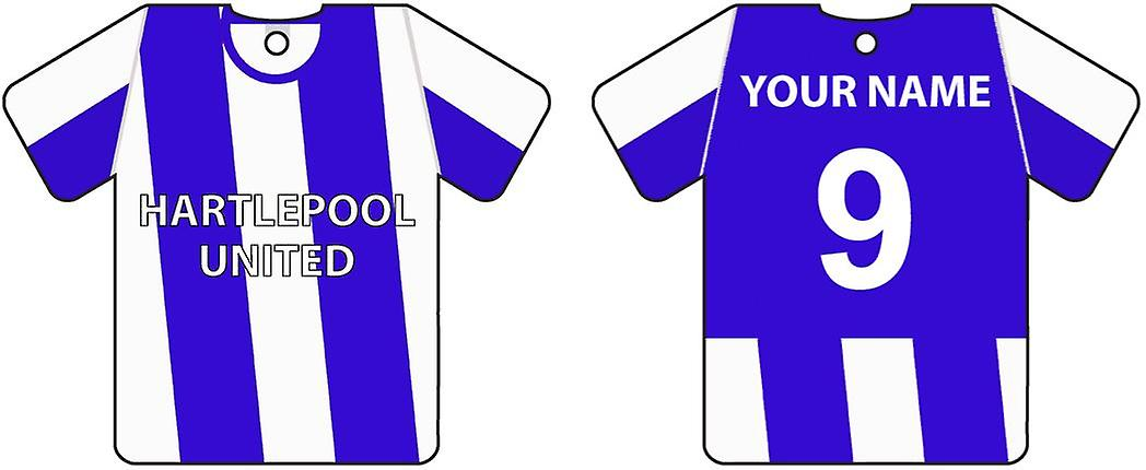 Gepersonaliseerde Hartlepool United Football Shirt auto luchtverfrisser