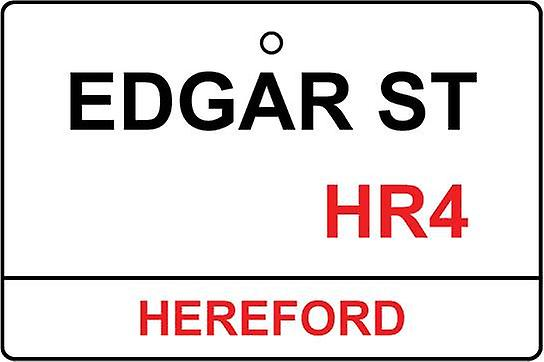 Hereford / Edgar St Street Sign Car Air Freshener