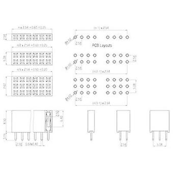 Receptacles (standard) No. of rows: 1 Pins per row: 4 W & P Products 157-04-1-00 1 pc(s)