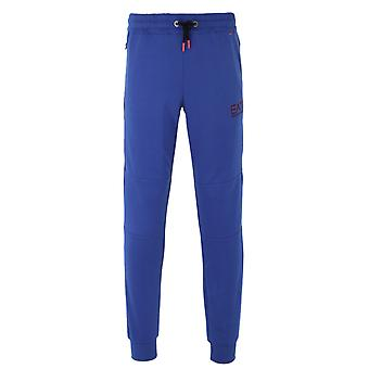 EA7 Evo Royal Blue Jersey Tracksuit Bottoms