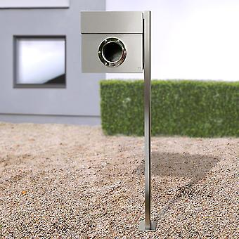 RADIUS stand letterbox Letterman 1 stainless steel with post - 563