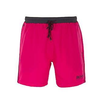BOSS Starfish Pink & Charcoal Swim Shorts