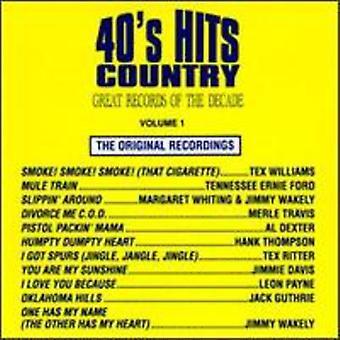 Importación de expedientes grandes de la década - años 40 Hits país n º 1 [CD] los E.e.u.u.