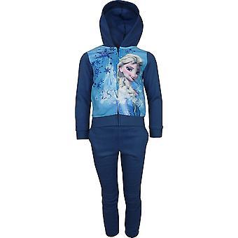Girls Disney Frozen Elsa & Anna Fleece Full Zip Hooded Sweatshirt PH1014