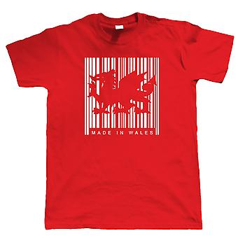 Vectorbomb, Made In Wales Barcode Mens T Shirt (S to 5XL)