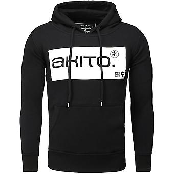 Akito Tanaka hooded SWEAT STREETER black/white