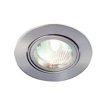 LED Robus Zak GU10 240V Twist & lås justerbar Downlight, borstad krom