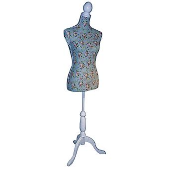 Chinz - Mannequin / decoratieve naaisters Dummy - wit / blauw