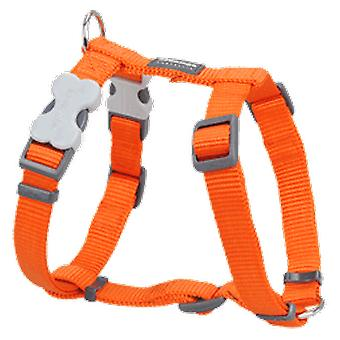 Red Dingo sele One Touch glat Orange (hunde, Walking tilbehør, seler)