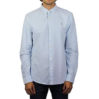 Farah Brewer Long-Sleeved Oxford Shirt (Sky Blue)