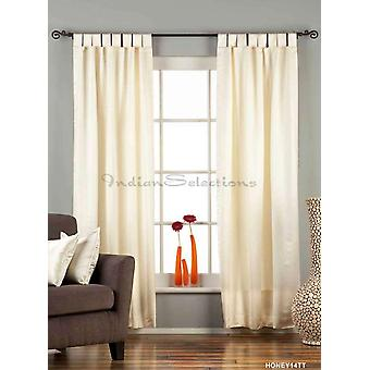 Cream Tab Top 90% blackout Curtain / Drape / Panel - 50X84