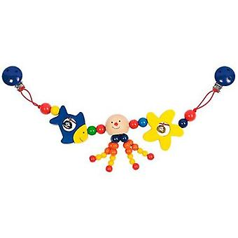 Goki Pram chain octopus with clips (Toys , Preschool , Babies , Early Childhood Toys)