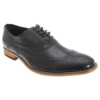 Goor Mens 5 Eyelet Brogue Oxford Shoes