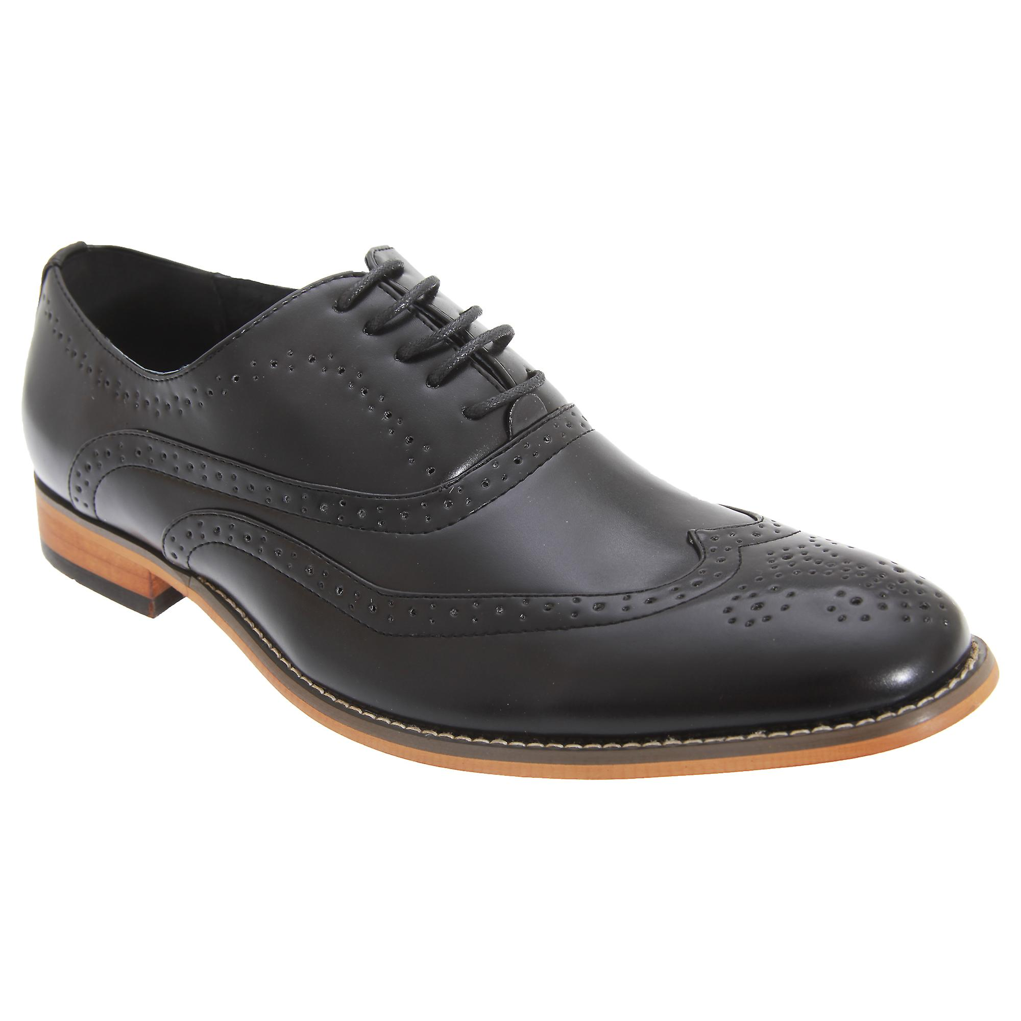 Goor Mens Shoes 5 Eyelet Brogue Oxford Shoes Mens 84d6b6