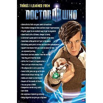 Doctor que - cosas aprendí cartel Poster Print