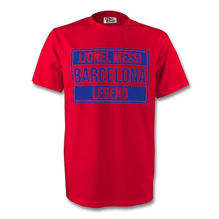 Lionel Messi Barcelona Legend Tee (röd) - barn