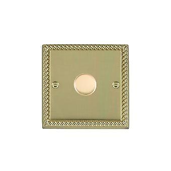 Hamilton Litestat Cheriton Georgian Polished Brass 1g 250W Multi-Way Dim PB