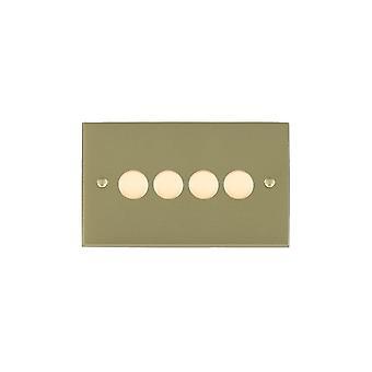 Hamilton Litestat Cheriton Victoriaanse satijn Brass 4g 250W multi-way Dim SB