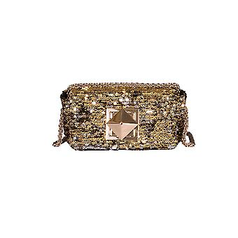 Sonia Rykiel women's 5527844642956 Silver/Gold Leather shoulder bag