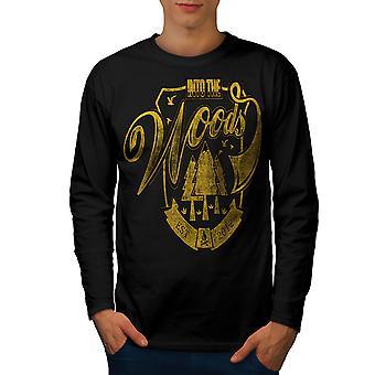 In den Wäldern Männer BlackLong Ärmel T-shirt | Wellcoda