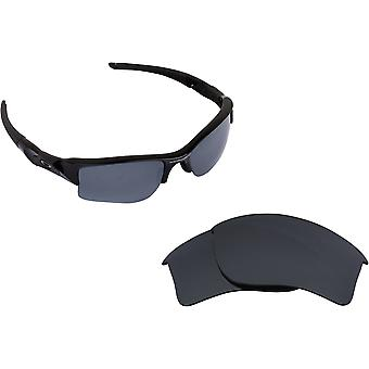 Quarter Jacket Replacement Lenses Black Iridium by SEEK fits OAKLEY Sunglasses