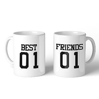 Best01 Friends02 BFF juego regalo café tazas 11 Oz hermanas regalos