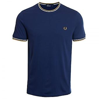 Fred Perry M1588 Twin tippet T-Shirt franske marinen