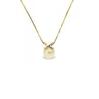375/1000 gule gullkjede og Pearl kultur Golden