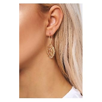The Fashion Bible Gold Mary Loop Earrings