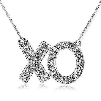1/4ct XO Diamond Pendant 14K White Gold