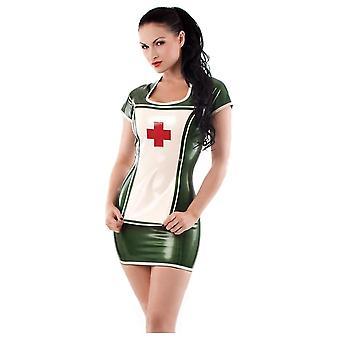 Запад связаны ночью медсестра резиновый латекс платье