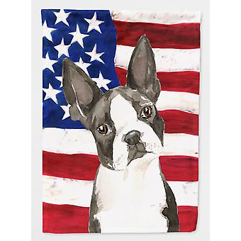 Carolines Treasures  CK1738GF Patriotic USA Boston Terrier Flag Garden Size