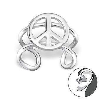 Frieden - 925 Sterling Silber Ohr Manschetten