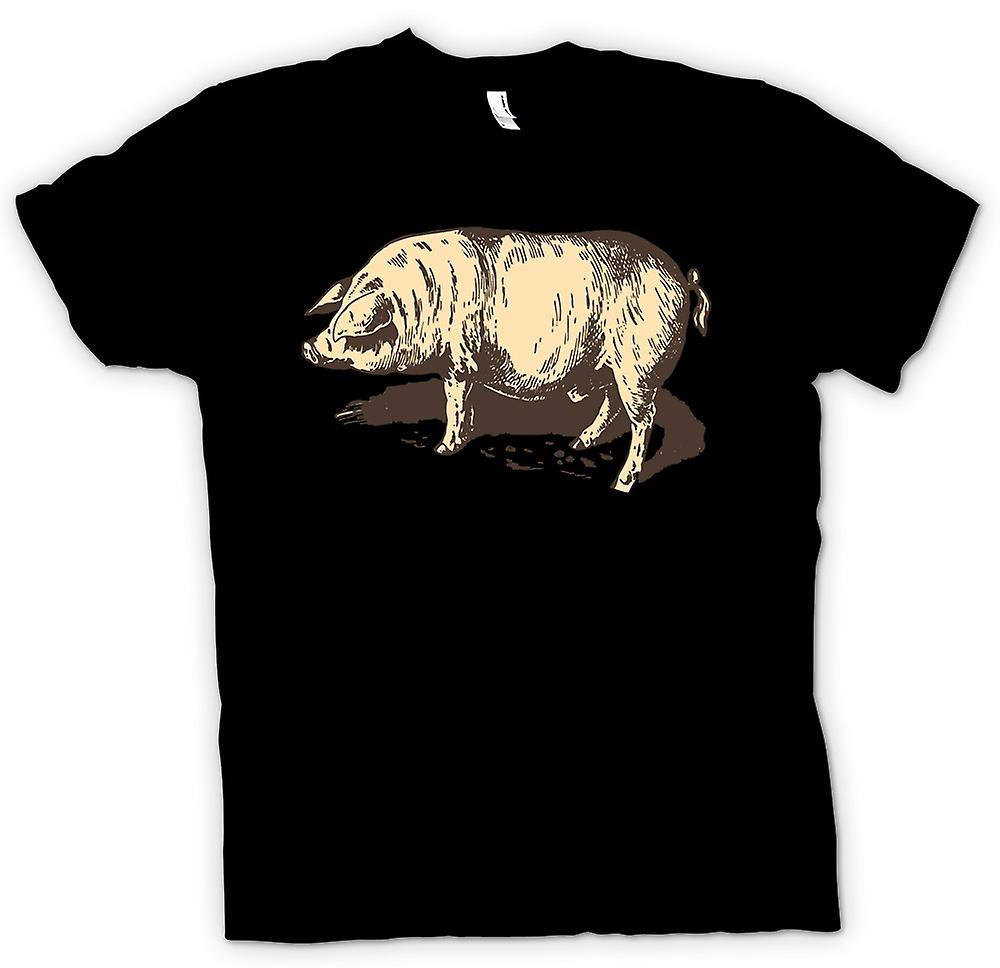 Mens T-shirt - I Love Pigs