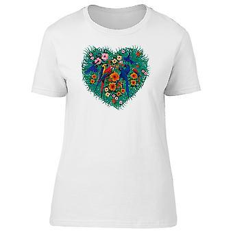 Papagaios de arara no coração Tee feminino-imagem por Shutterstock