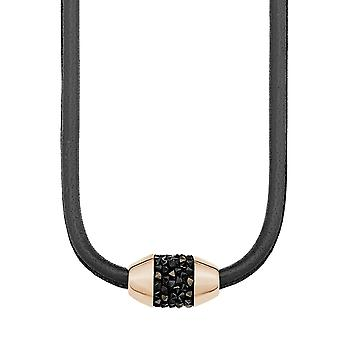 s.Oliver jewel ladies chain stainless steel Rosé gold leather 2012522