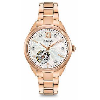 Bulova automático diamante 97 P 121 Watch de Women