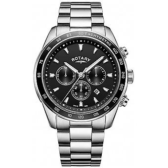 Rotary Gents Bracelet Henley Stainless Steel Chronograph GB05109/04 Watch