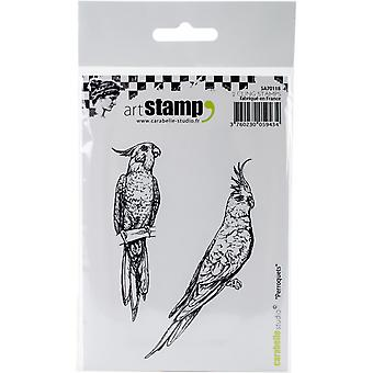 Carabelle Studio Cling Stamp A7-Parrots