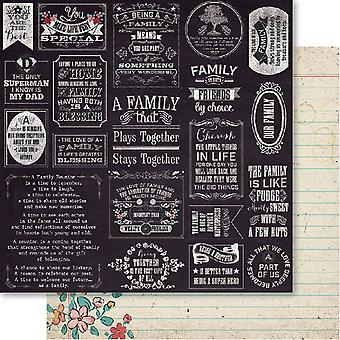 Bella! Family Double-Sided Cardstock 12