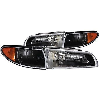 Anzo USA 121201 Pontiac Grand Prix Black Clear Headlight Assembly - (Sold in Pairs)