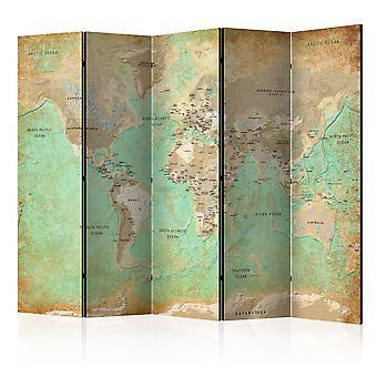 Rumdeler - turkis verdenskort [værelse delelinjer]