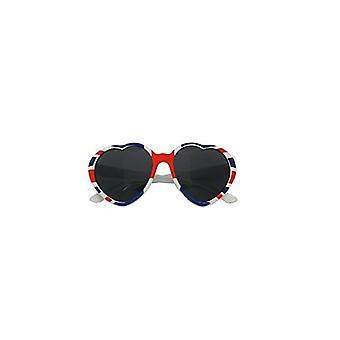 W kształcie serca Union Jack zużycie Union Jack okulary przeciwsłoneczne RWBlue